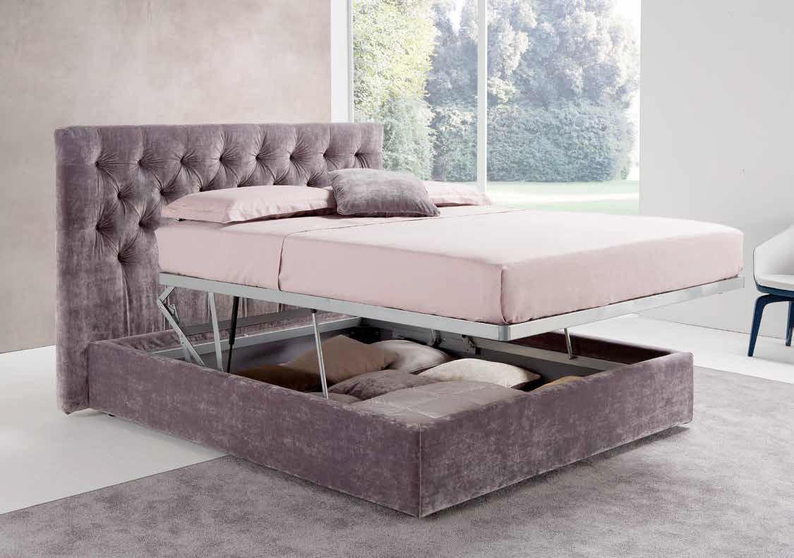 lit double classique tapiss avec tte de lit - Lit Capitonne
