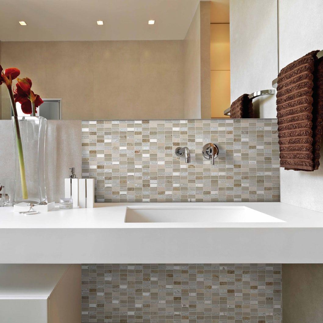 Mosaïque de salle de bain / de cuisine / murale / en marbre   trip ...