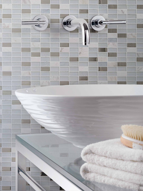 Mosaïque de salle de bain / de cuisine / murale / en marbre - TRIP ...