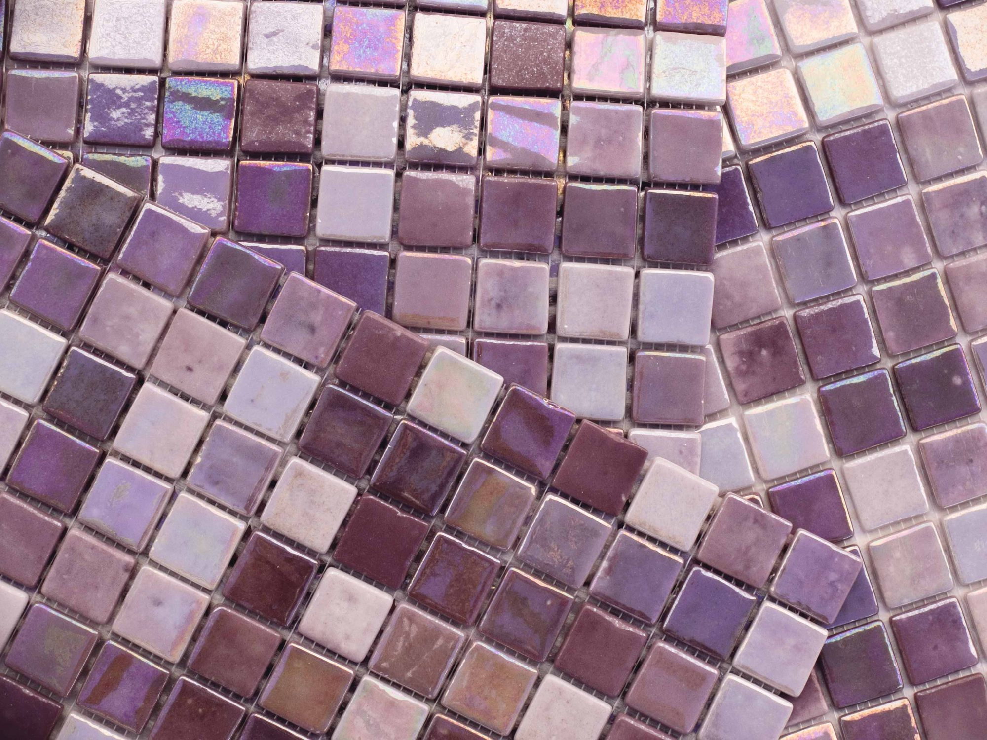 Mosaïque de salle de bain / murale / en verre / brillante   design ...