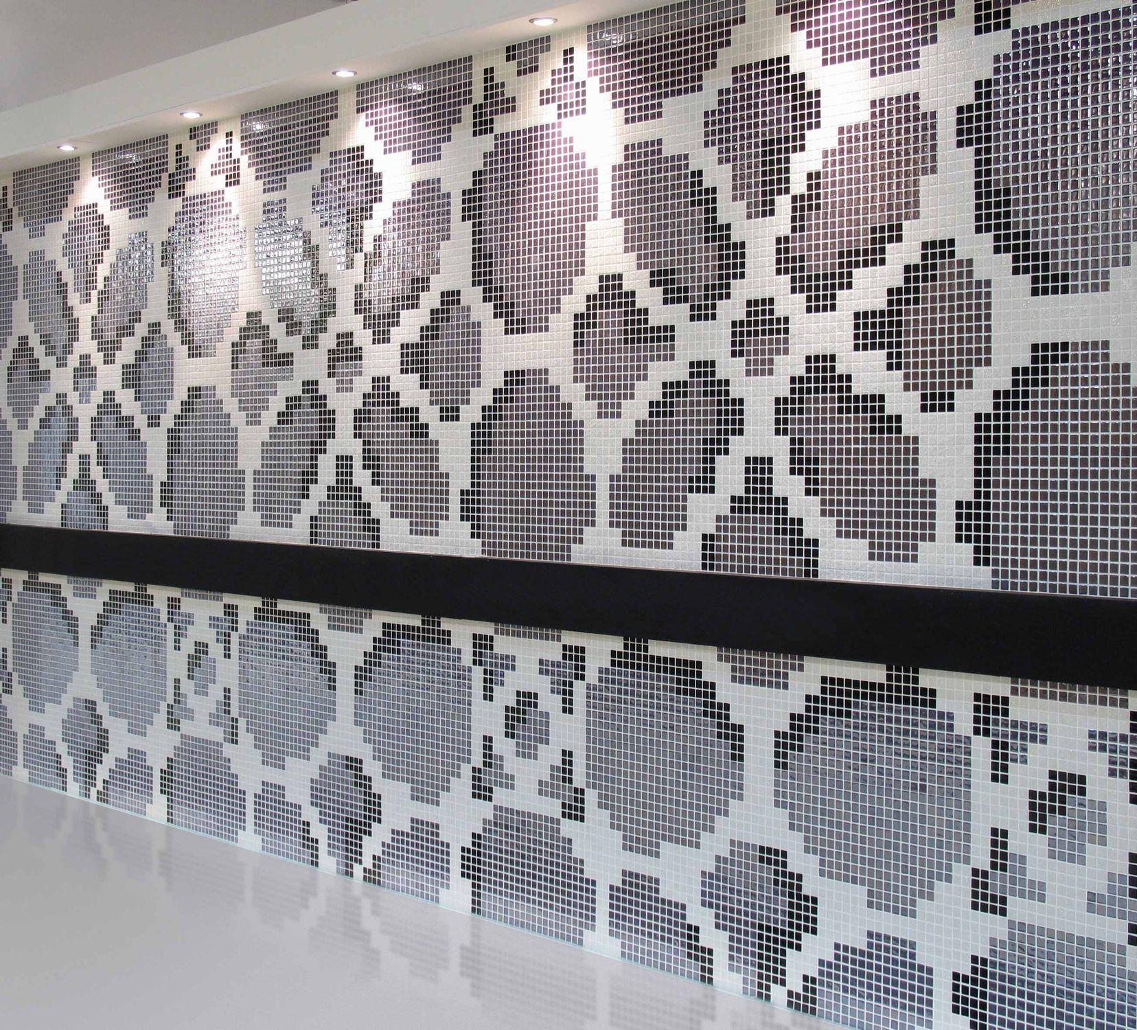 Mosaïque de salle de bain / murale / en verre / brillante - DESIGN ...