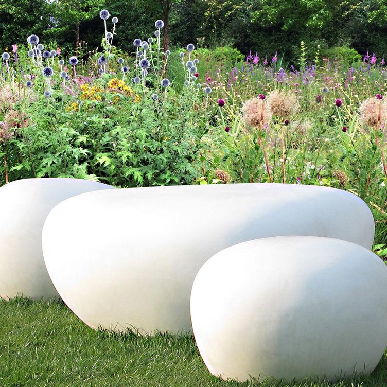 Banc de jardin / design original / en béton fibré - CLAP.L - LOVECEMENT