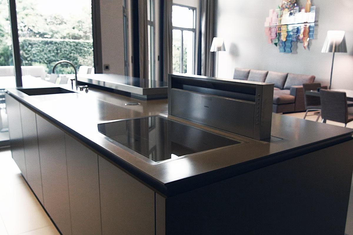 plan de travail en solid surface / de cuisine / résistant à la ... - Plan De Travail Cuisine Resistant Chaleur