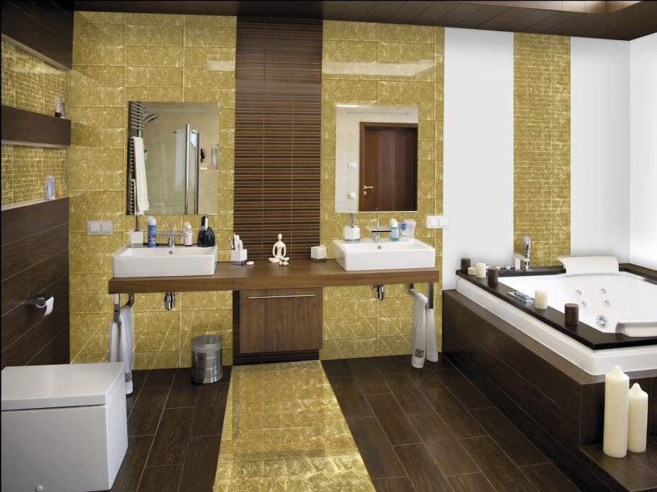 mosaïque d'intérieur / de salle de bain / au sol / murale - jewel ... - Photo Salle De Bain Mosaique