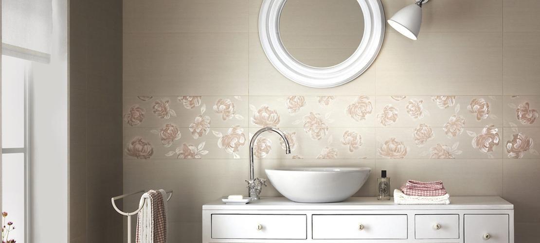 carrelage salle de bain romantique
