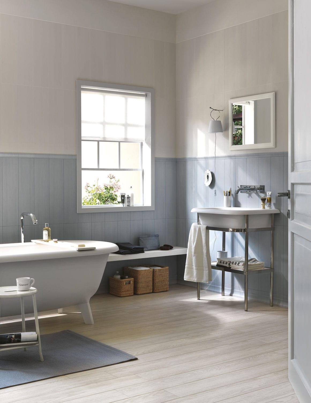 Carrelage de salle de bain / mural / en céramique / à motif floral ...