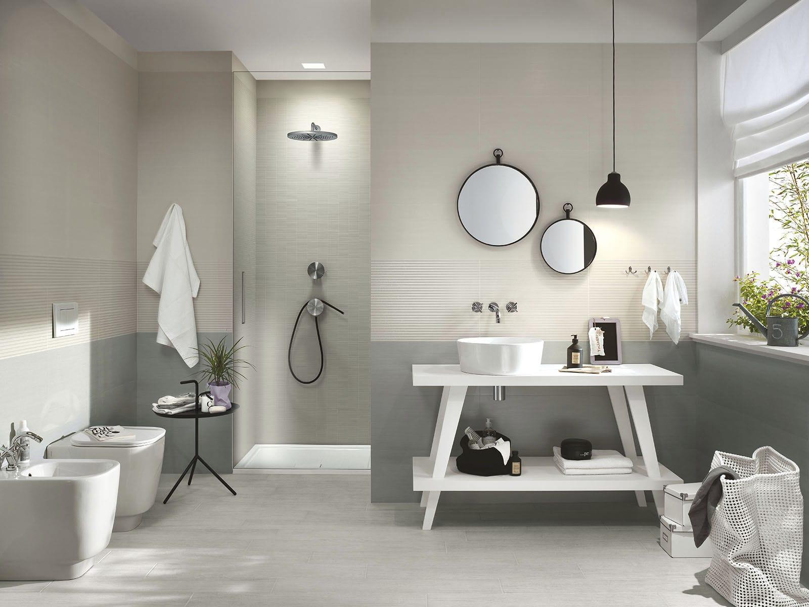 Carrelage de salle de bain / mural / en céramique / vieilli ...