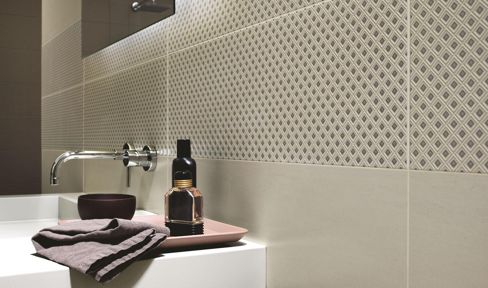 Carrelage de salle de bain / mural / en céramique / velouté ...
