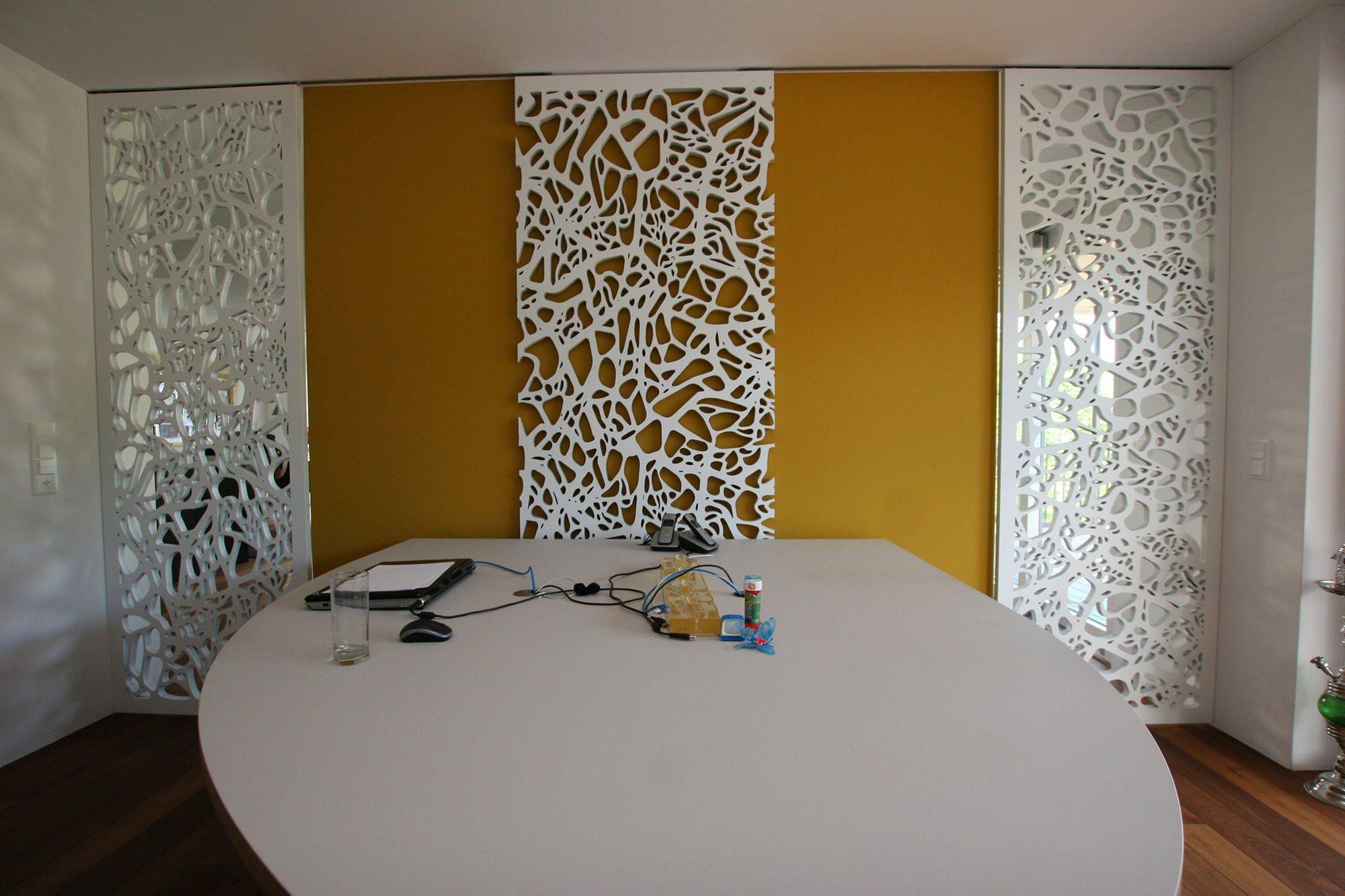 Panneau décoratif MDF / pour cloison / mural / perforé - PRIVATE ...