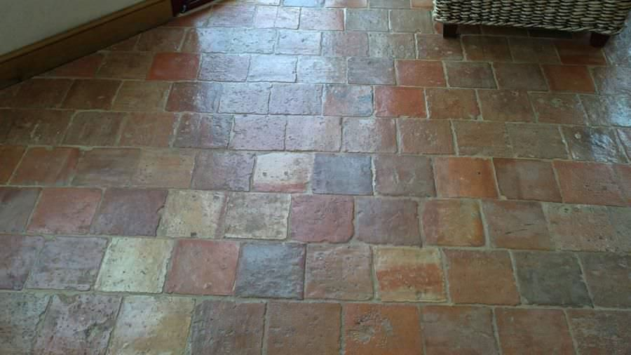 Carrelage Dintérieur De Sol En Terracotta Vieilli - Carrelage ancien