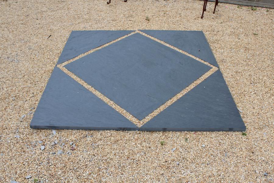 Revêtement de sol en ardoise / en dalles / texturé / aspect pierre ...