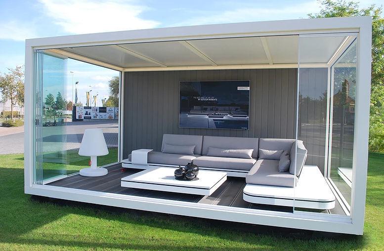 abri de jardin en verre contemporain r sidentiel. Black Bedroom Furniture Sets. Home Design Ideas