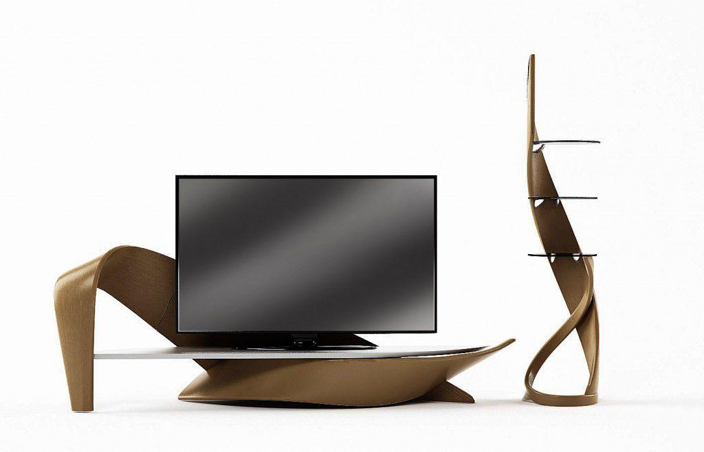 Meuble TV contemporain en bois BRAZO Actual Design Studio