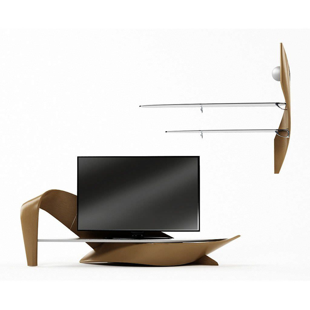 Meuble Tv Contemporain En Bois Brazo Actual Design Studio # Meuble Tv Rond