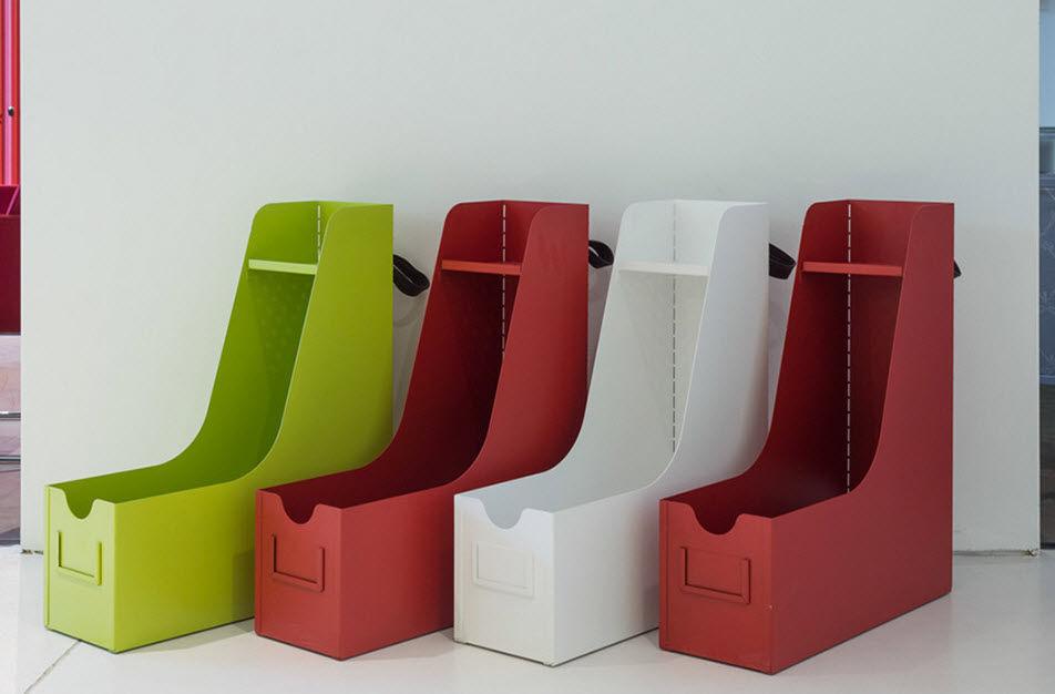 Boîte de rangement pour fourniture de bureau big binder by erdem