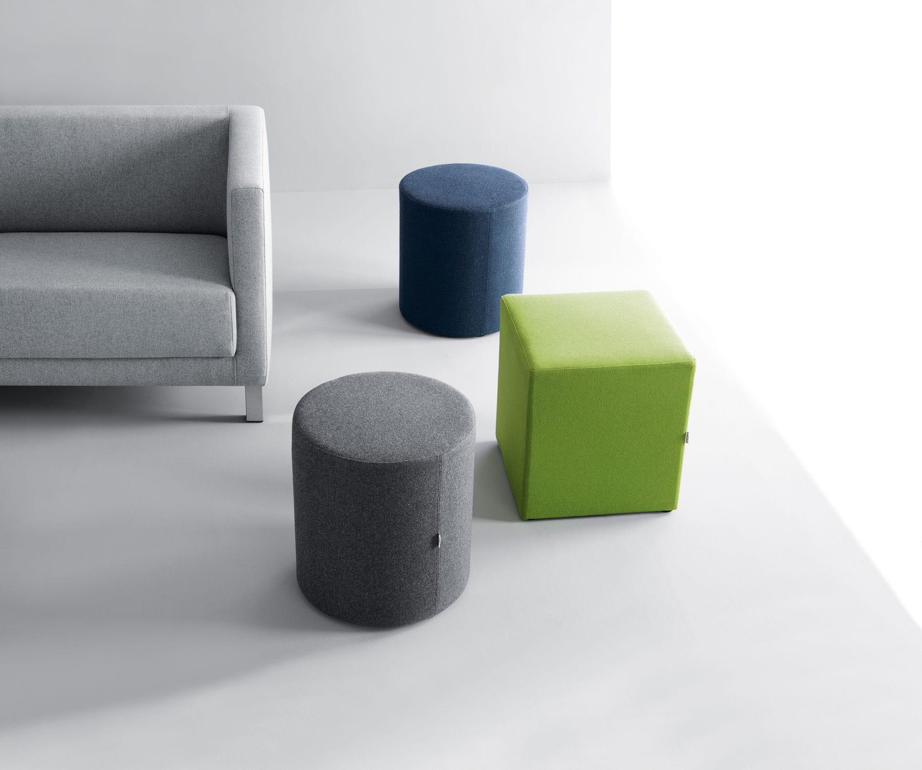 Pouf contemporain / en tissu / carré / rond - VANCOUVER OTO - Profim