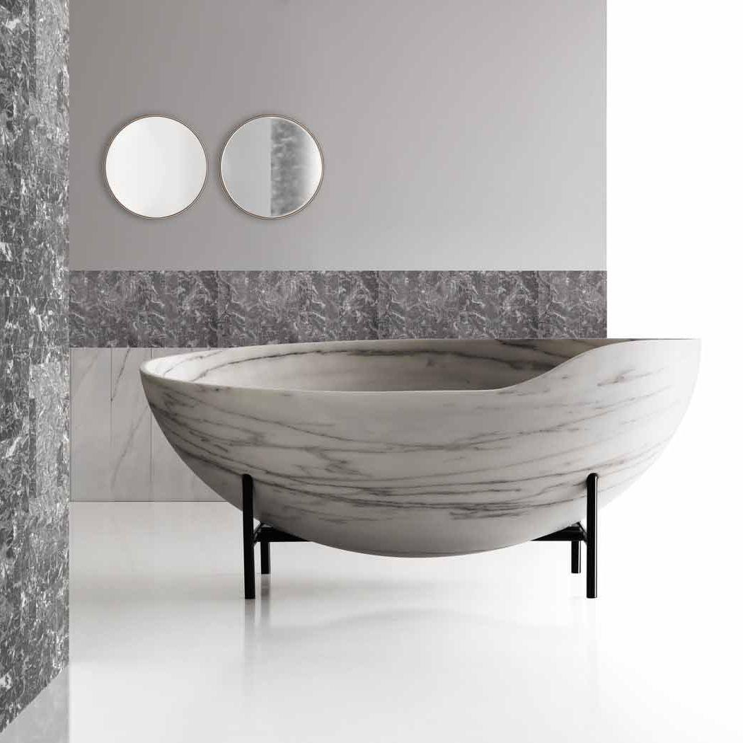 baignoire sur pieds / ovale / en marbre - kora - kreoo