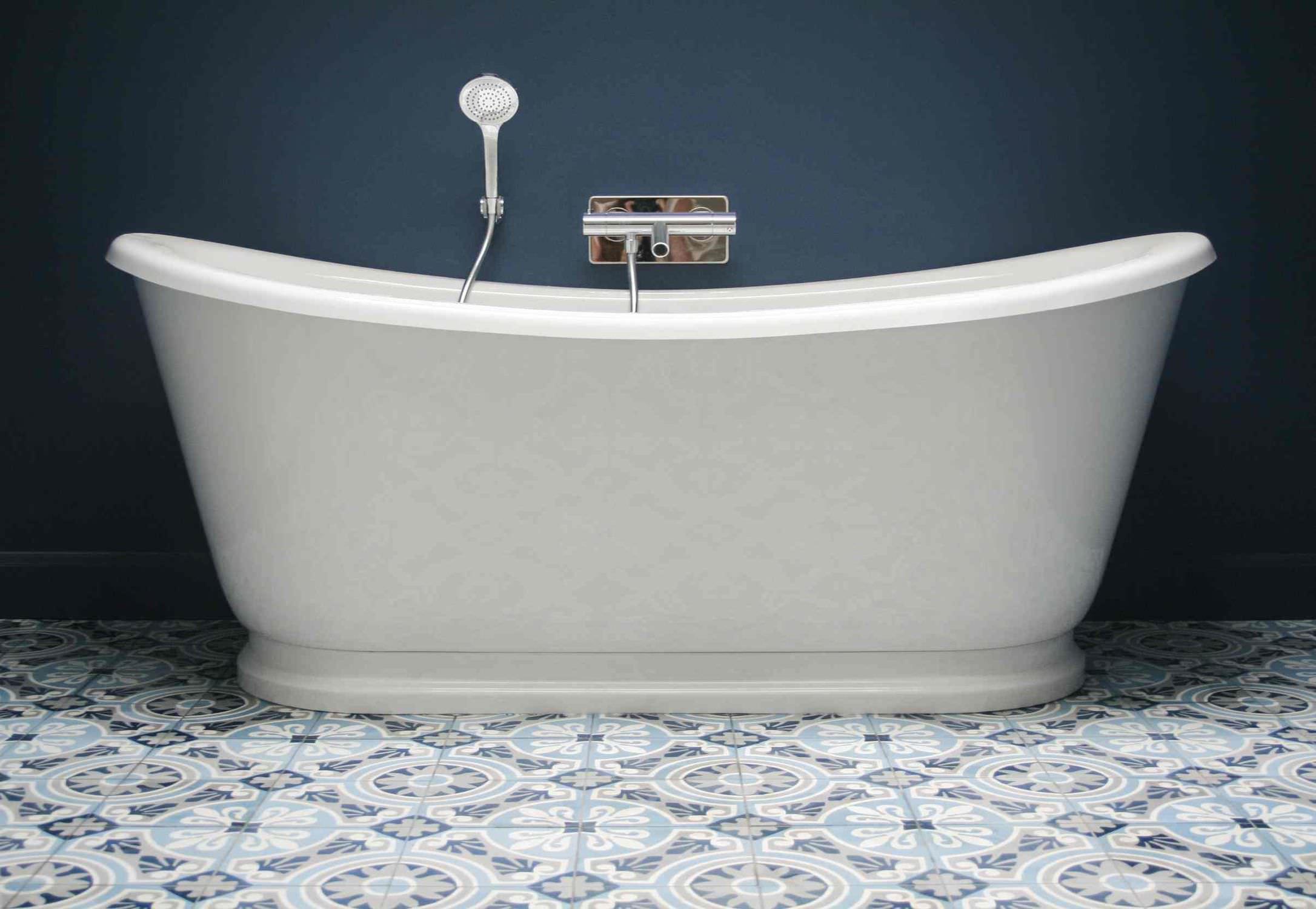 Carrelage de salle de bain / de sol / en ciment / motif Victorien ...