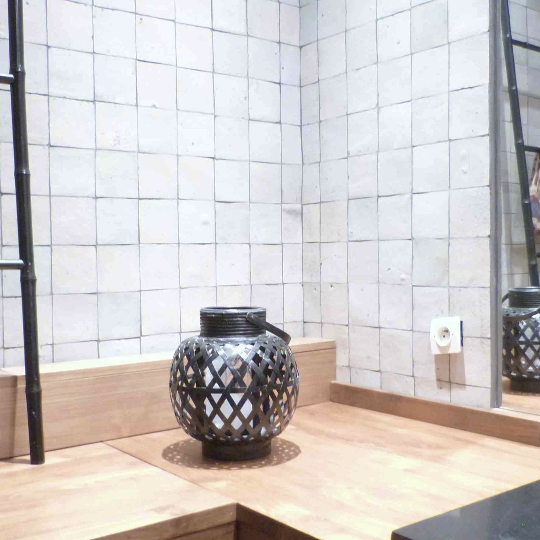 Carrelage de salle de bain / de sol / en ciment / uni - ZELLIGES ...