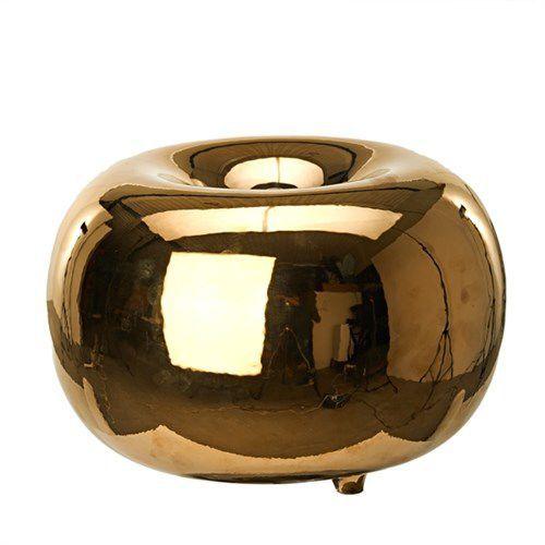 Lampe De Table Contemporaine En Porcelaine A Led Halo Gold L