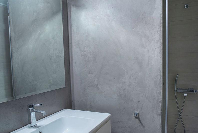 enduit décoratif / de salle de bain / pour mur / à la chaux ... - Enduit Mur Salle De Bain