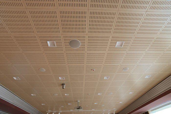 Fabuleux Faux-plafond en bois / en dalles / acoustique / pour salle blanche  ZF78