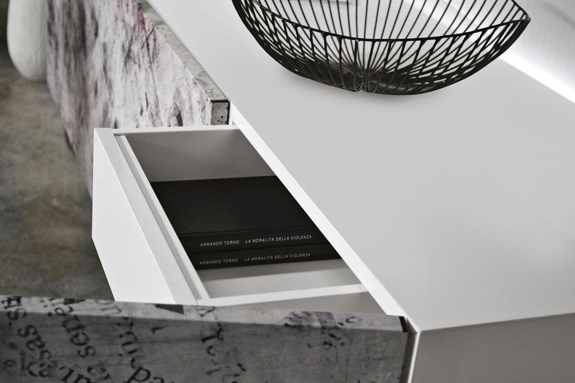bibliothèque sydney laqué blanc