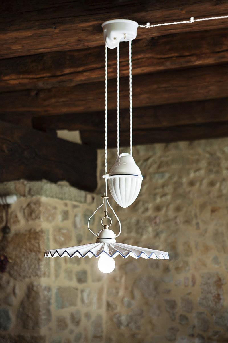 suspension / classique / en céramique / blanche - piega - aldo bernardi