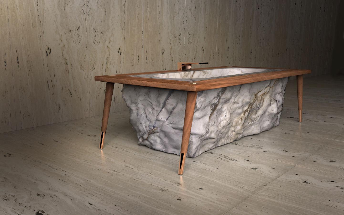 baignoire à poser / en marbre / en bois / en cuivre - pfeiffer - tcc