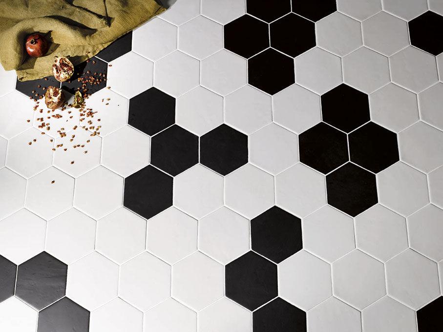 tomette murale / en céramique / blanche / grise - valmori ceramica
