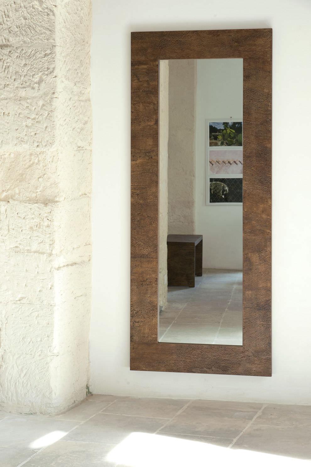 Miroir mural contemporain rectangulaire en bois 180