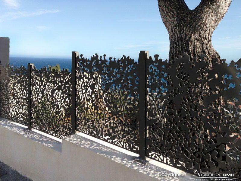 Clôture de jardin / à panneaux / en aluminium / brise-vue - AMBELLYA ...