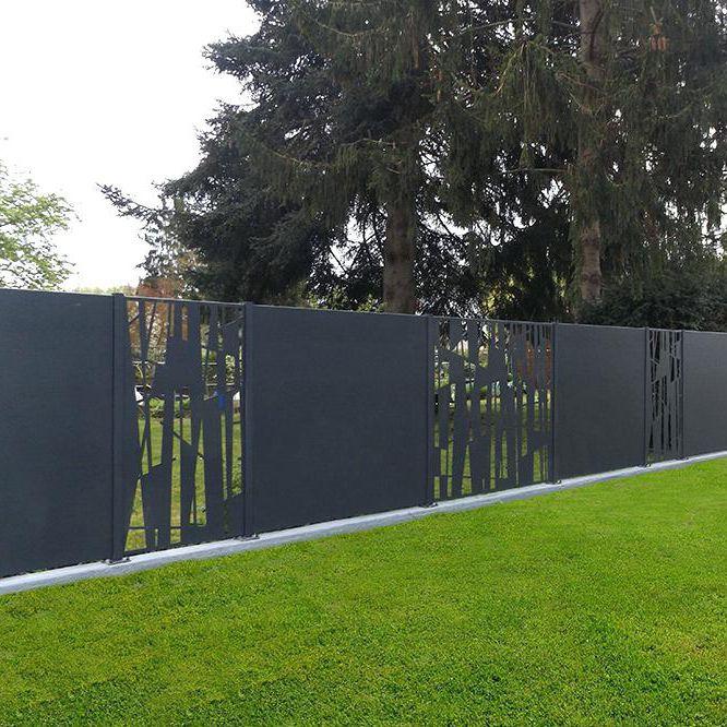 Clôture de jardin / à panneaux / en aluminium / teintée - AMBELLYA ...