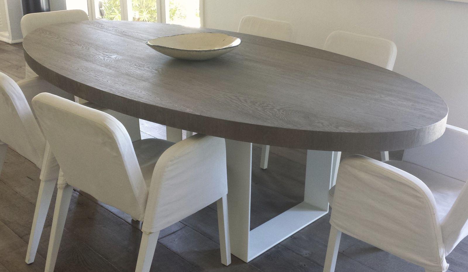 table a manger ovale table salle a manger en bois | maisonjoffrois