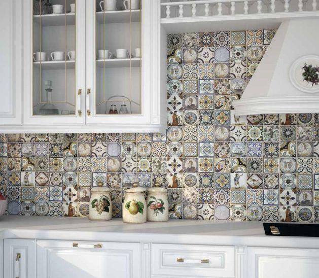 mosaïque d'intérieur / de salle de bain / de cuisine / au sol