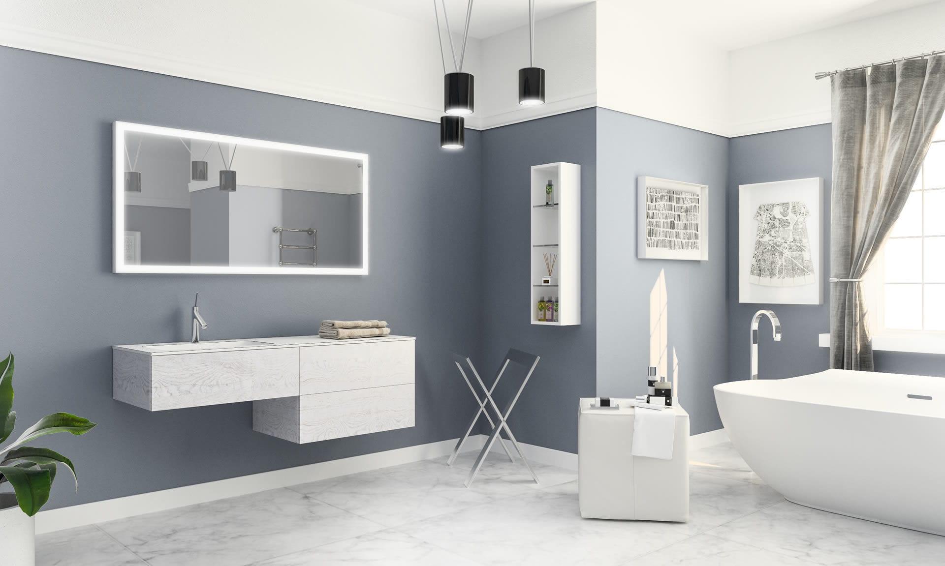 Salle de bain contemporaine / en bois - NATURA - ISA BAGNO