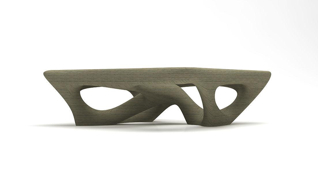 Populaire Table basse design organique / en verre / en frêne / carrée  TK83