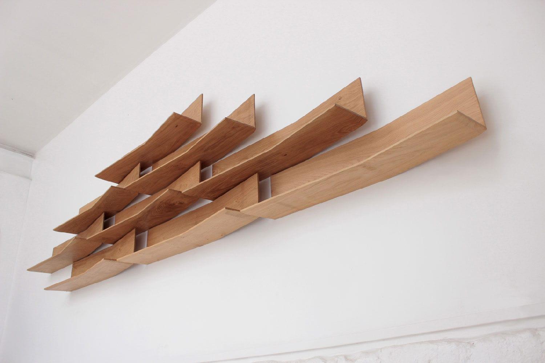 etagere murale bois massif