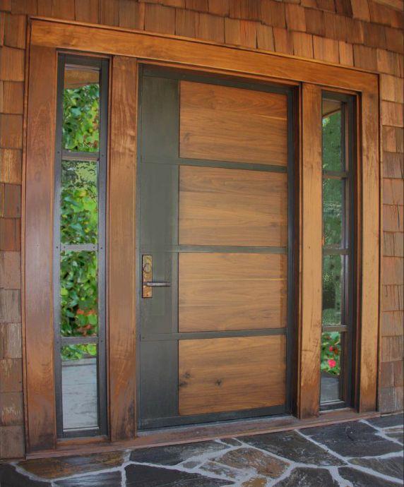 Porte Dentrée Battante En Bois En Acier HILLS AppWood - Porte d entrée en bois