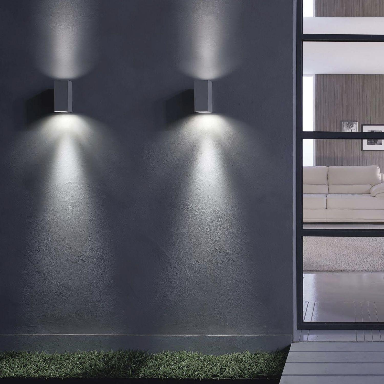 Aluminium Applique À D'extérieur En Contemporaine Led Murale hBotQrdCsx