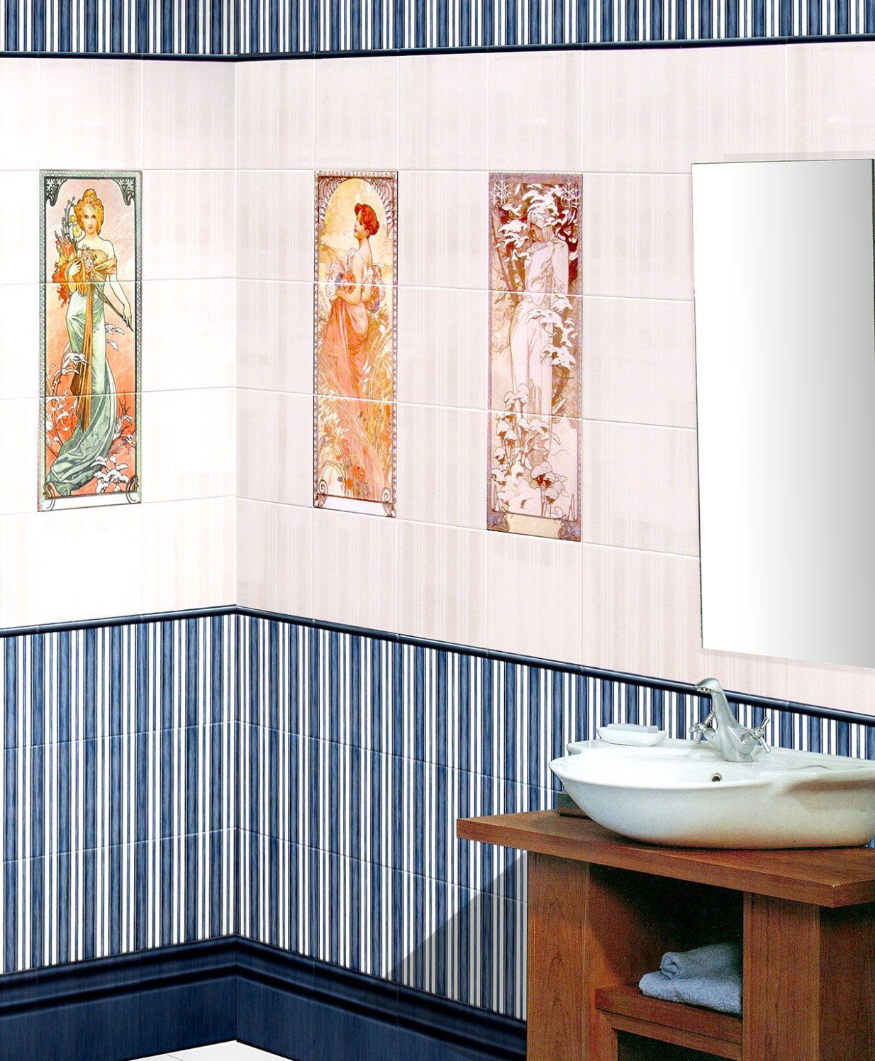 Carrelage de salle de bain / mural / en céramique / brillant ...