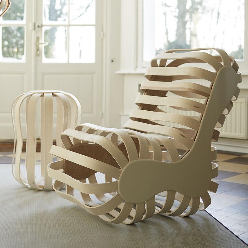 Fauteuil Visiteur Design Original En Chêne En Frêne En Corian - Fauteuil visiteur design