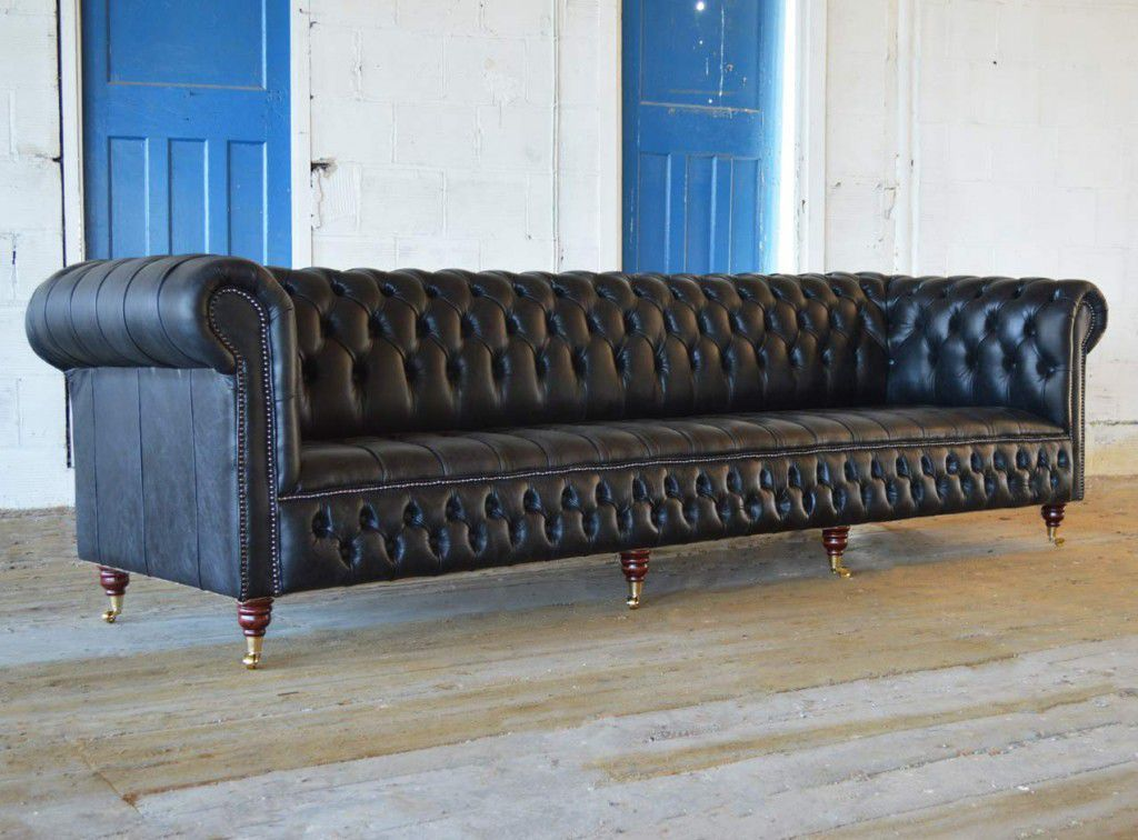 Canapé Chesterfield En Cuir Places Places GRANDE MAYFAIR - Canapé cuir 4 places