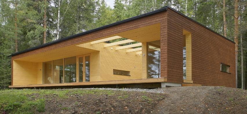 Maison préfabriquée / contemporaine / en bois massif / écologique ...
