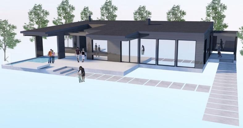 Maison préfabriquée / contemporaine / en bois massif / en verre ...