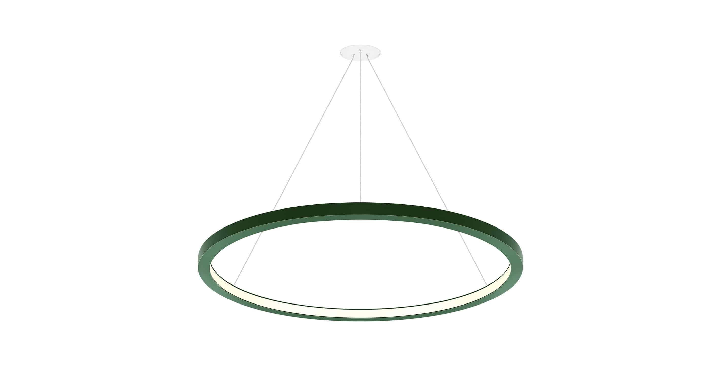 Luminaire suspendu à led rond elliptique oreo in indelague