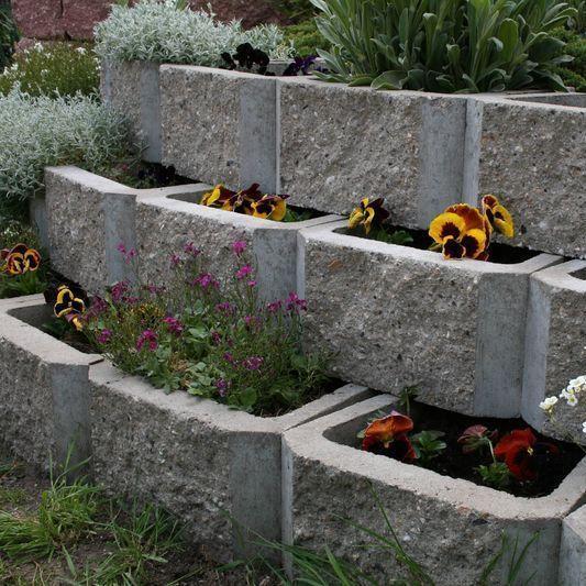 bac à fleurs en béton à haute performance / rectangulaire