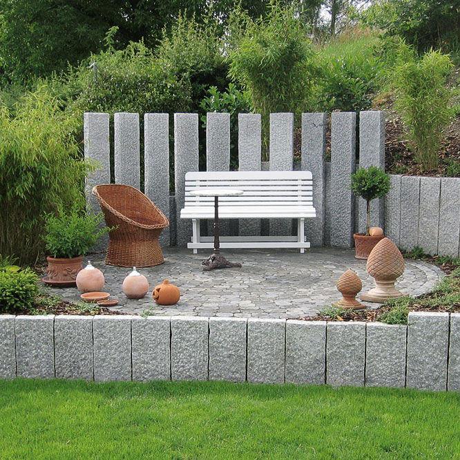 Palissade de jardin / en pierre naturelle - UHL