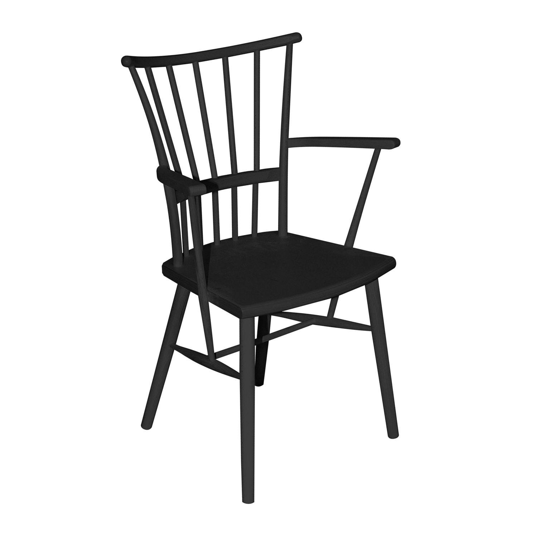 Chaise Classique Avec Accoudoirs En Hêtre Pour Hôtel Wilma B