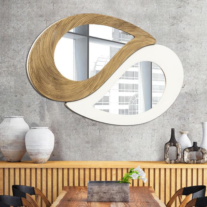 Miroir mural design original en bambou P4664 PINTDECOR